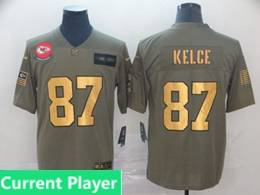Mens Nfl Kansas City Chiefs Current Player 2019 Green Olive Gold Number Salute To Service Limited Jersey