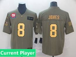 Mens Nfl New York Giants Current Player 2019 Green Olive Gold Number Salute To Service Limited Jersey