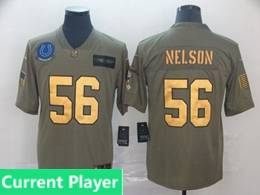 Mens Nfl Indianapolis Colts Current Player 2019 Green Olive Gold Number Salute To Service Limited Jersey