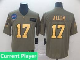 Mens Nfl Buffalo Bills Current Player 2019 Green Olive Gold Number Salute To Service Limited Jersey