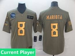 Mens Nfl Tennessee Titans Current Player 2019 Green Olive Gold Number Salute To Service Limited Jersey
