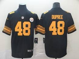 Mens Pittsburgh Steelers #48 Bud Dupree Black Big Number Vapor Untouchable Limited Player Jersey