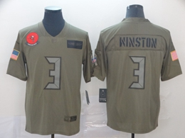 Mens Nfl Tampa Bay Buccaneers #3 Jameis Winston Green 2019 Salute To Service Limited Jersey