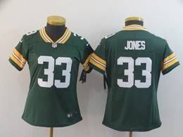 Women Nfl Green Bay Packers #33 Aaron Jones Green Vapor Untouchable Limited Player Jersey
