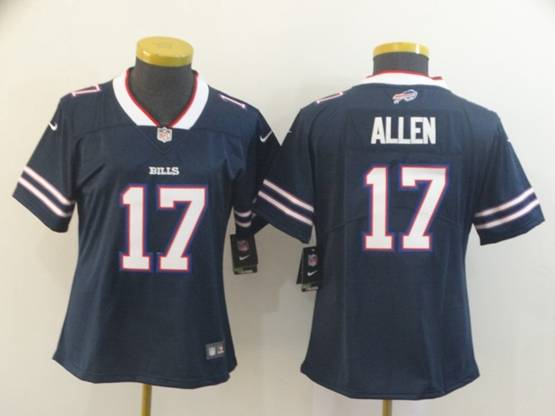 Women Nfl Buffalo Bills #17 Josh Allen Navy Blue Nike Inverted Legend Vapor Untouchable Limited Jersey