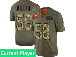 Mens Nfl Denver Broncos Current Player 2019 Green Olive Camo Salute To Service Nike Limited Jersey