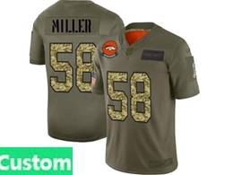 Mens Nfl Denver Broncos Custom Made 2019 Green Olive Camo Salute To Service Nike Limited Jersey