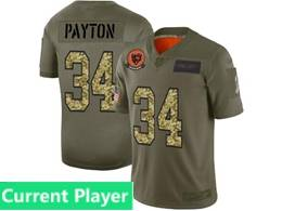 Mens Nfl Chicago Bears Current Player 2019 Green Olive Camo Salute To Service Nike Limited Jersey