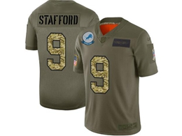 Mens Nfl New Orleans Saints #9 Drew Brees 2019 Green Olive Camo Salute To Service Nike Limited Jersey