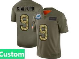 Mens Nfl New Orleans Saints Custom Made 2019 Green Olive Camo Salute To Service Nike Limited Jersey