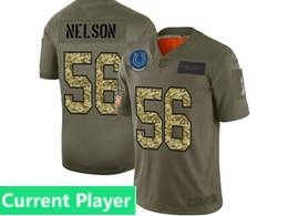 Mens Nfl Indianapolis Colts Current Player 2019 Green Olive Camo Salute To Service Nike Limited Jersey