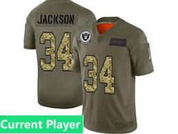 Mens Nfl Oakland Raiders Current Player 2019 Green Olive Camo Salute To Service Nike Limited Jersey