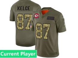 Mens Nfl Kansas City Chiefs Current Player 2019 Green Olive Camo Salute To Service Nike Limited Jersey