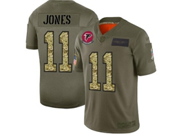 Mens Nfl Atlanta Falcons #11 Julio Jones 2019 Green Olive Camo Salute To Service Nike Limited Jersey