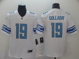 Mens Nfl Detroit Lions #19 Kenny Golladay White Team Logo Cool Edition Vapor Untouchable Limited Jerseys