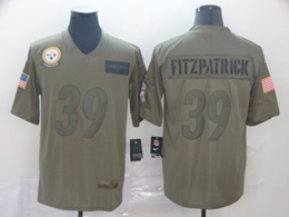 Mens Pittsburgh Steelers #39 Minkah Fitzpatrick Green 2019 Salute To Service Limited Jersey