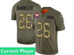 Mens Nfl New York Giants Current Player 2019 Green Olive Camo Salute To Service Nike Limited Jersey