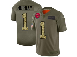 Mens Nfl Arizona Cardinals #1 Kyler Murray 2019 Green Olive Camo Salute To Service Nike Limited Jersey