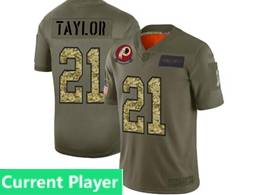 Mens Nfl Washington Redskins Current Player 2019 Green Olive Camo Salute To Service Nike Limited Jersey