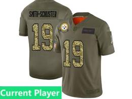 Mens Nfl Pittsburgh Steelers Current Player 2019 Green Olive Camo Salute To Service Nike Limited Jersey