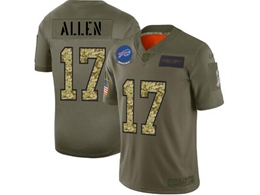 Mens Nfl Buffalo Bills #17 Josh Allen 2019 Green Olive Camo Salute To Service Nike Limited Jersey