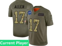 Mens Nfl Buffalo Bills Current Player 2019 Green Olive Camo Salute To Service Nike Limited Jersey