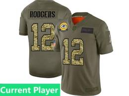 Mens Nfl Green Bay Packers Current Player 2019 Green Olive Camo Salute To Service Nike Limited Jersey