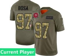 Mens Nfl San Francisco 49ers Current Player 2019 Green Olive Camo Salute To Service Nike Limited Jersey