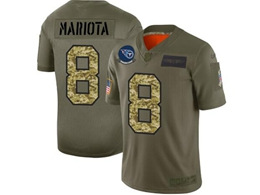 Mens Nfl Tennessee Titans #8 Marcus Mariota 2019 Green Olive Camo Salute To Service Nike Limited Jersey