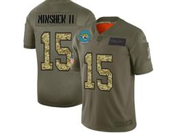 Mens Nfl Jacksonville Jaguars #15 Gardner Minshew Ii 2019 Green Olive Camo Salute To Service Nike Limited Jersey