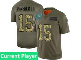 Mens Nfl Jacksonville Jaguars Current Player 2019 Green Olive Camo Salute To Service Nike Limited Jersey