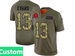 Mens Nfl Tampa Bay Buccaneers Custom Made 2019 Green Olive Camo Salute To Service Nike Limited Jersey
