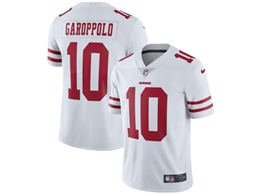 Mens Women Youth  Nfl San Francisco 49ers #10 Jimmy Garoppolo White Vapor Untouchable Limited Jersey