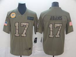 Mens Nfl Green Bay Packers #17 Davante Adams 2019 Green Olive Camo Salute To Service Nike Limited Jersey
