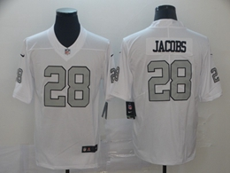 Mens Nfl Oakland Raiders #28 Josh Jacobs White Color Rush Vapor Untouchable Limited Nike Jerseys