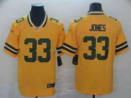 Mens Nfl Green Bay Packers #33 Aaron Jones Gold Nike Inverted Legend Vapor Untouchable Limited Jersey