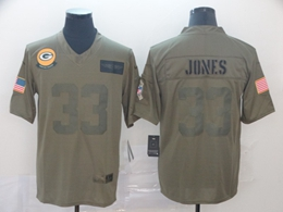 Mens Nfl Green Bay Packers #33 Aaron Jones Green 2019 Salute To Service Limited Jersey