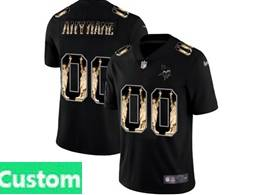 Mens Nfl Minnesota Vikings Custom Made Black Statue Of Liberty Vapor Untouchable Limited Jerseys