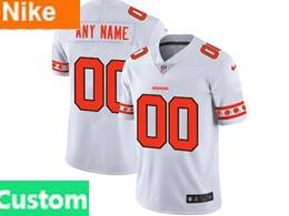 Mens Nfl Cleveland Browns Custom Made White Team Logo Cool Edition Vapor Untouchable Limited Jerseys
