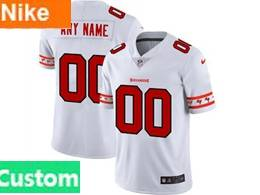 Mens Nfl Tampa Bay Buccaneers Custom Made White Team Logo Cool Edition Vapor Untouchable Limited Jerseys