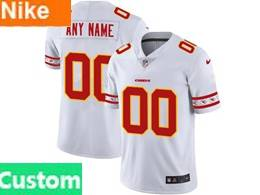 Mens Nfl Kansas City Chiefs Custom Made White Team Logo Cool Edition Vapor Untouchable Limited Jerseys