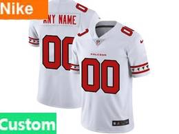 Mens Nfl Atlanta Falcons Custom Made White Team Logo Cool Edition Vapor Untouchable Limited Jerseys