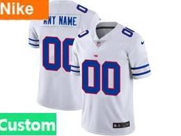 Mens Nfl New York Giants Custom Made White Team Logo Cool Edition Vapor Untouchable Limited Jerseys