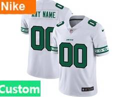 Mens Nfl New York Jets Custom Made White Team Logo Cool Edition Vapor Untouchable Limited Jerseys