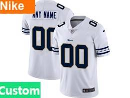 Mens Nfl Los Angeles Rams Custom Made White Team Logo Cool Edition Vapor Untouchable Limited Jerseys