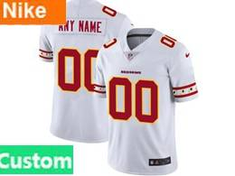 Mens Nfl Washington Redskins Custom Made White Team Logo Cool Edition Vapor Untouchable Limited Jerseys