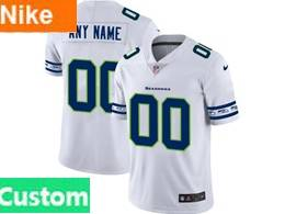 Mens Nfl Seattle Seahawks Custom Made White Team Logo Cool Edition Vapor Untouchable Limited Jerseys