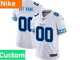 Mens Nfl Tennessee Titans Custom Made White Team Logo Cool Edition Vapor Untouchable Limited Jerseys