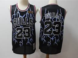 Mens Nba Chicago Bulls #23 Michael Jordan Black Hardwood Classics Light Limited Jersey