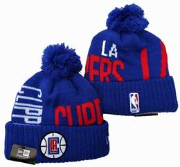 Mens Nba Los Angeles Clippers Blue&red Sport Knit Hats